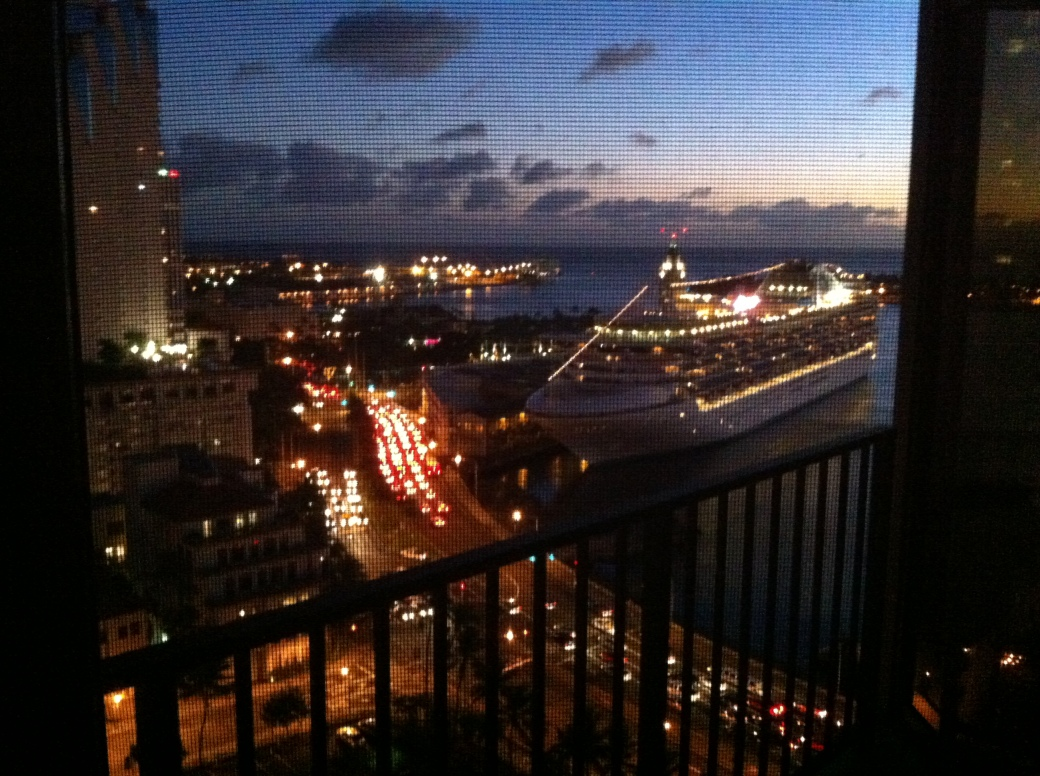 Aloha Tower from adjacent apartments